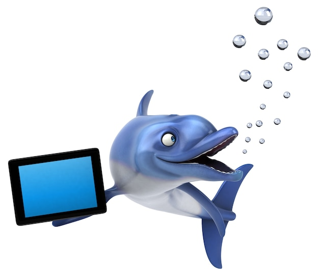Spaß delphinillustration