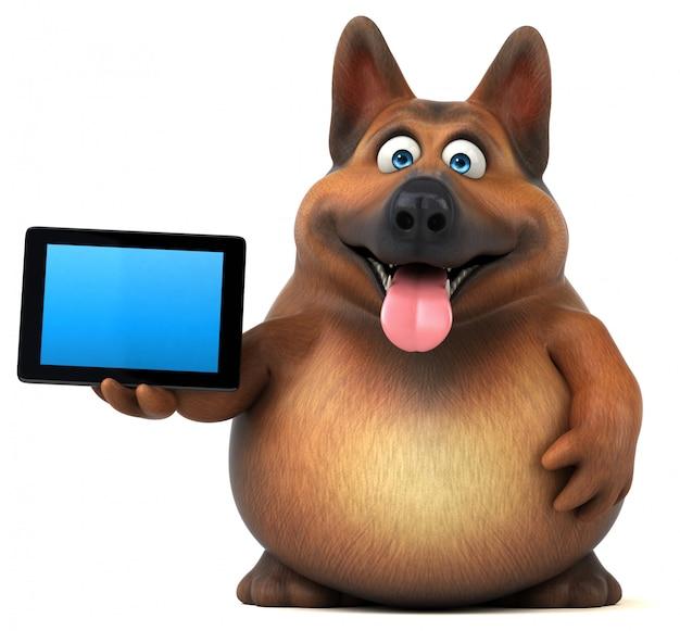 Spaß deutscher schäferhund 3d illustration