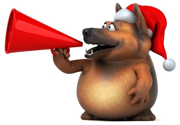Spaß deutscher schäferhund - 3d-illustration