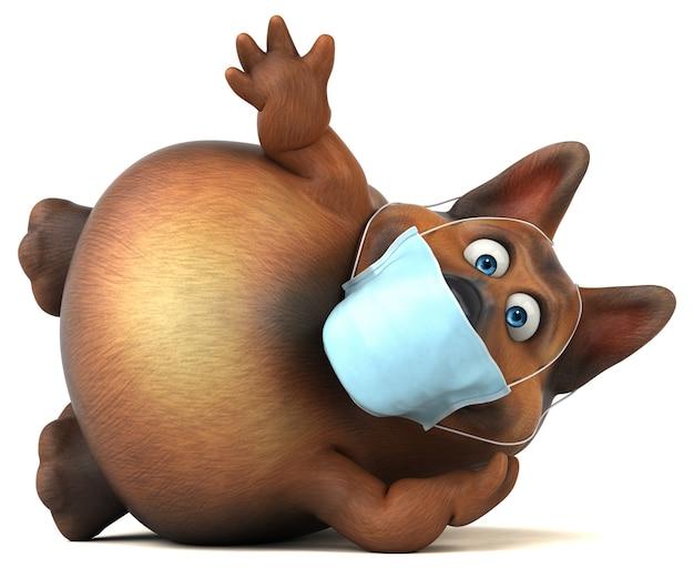 Spaß deutscher schäferhund mit einer maske