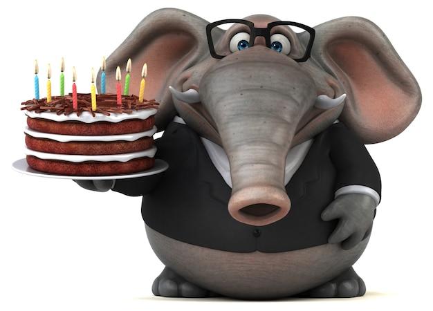 Spaß elefant 3d-illustration