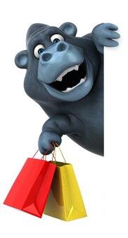 Spaß gorilla illustration
