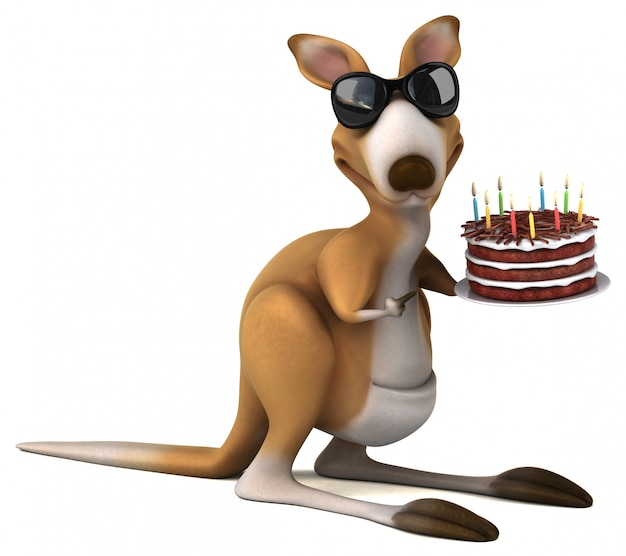 Spaß känguru-animation