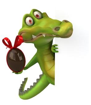 Spaß krokodilillustration
