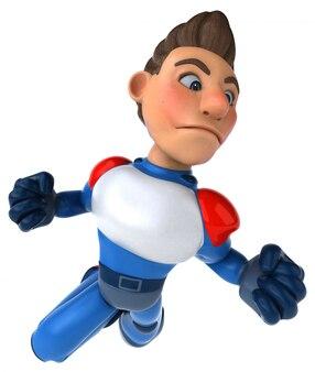 Spaß modernen superhelden - 3d-charakter