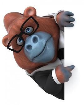 Spaß orang outan - 3d-illustration