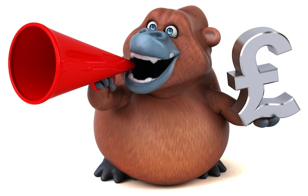 Spaß orang-outan - 3d-illustration