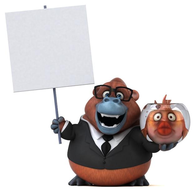 Spaß orang outan illustration