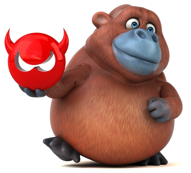 Spaß orangoutan - 3d-illustration