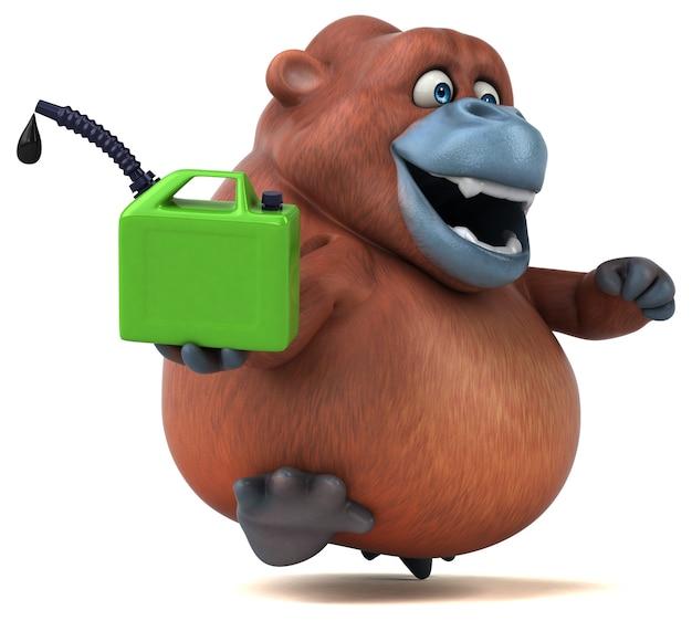 Spaß orangoutan animation