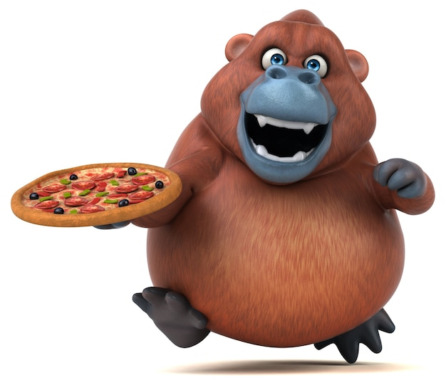 Spaß orangoutan illustration