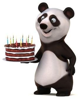Spaß panda illustration