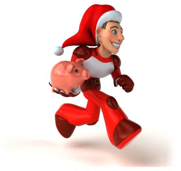 Spaß super santa claus - 3d-charakter