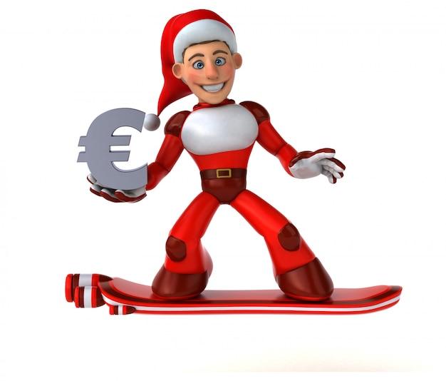 Spaß super santa claus - 3d-illustration