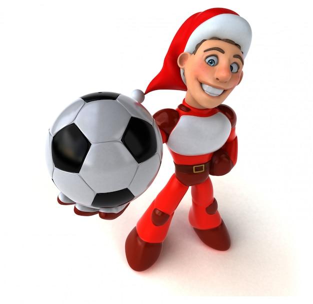 Spaß super weihnachtsmann 3d-illustration