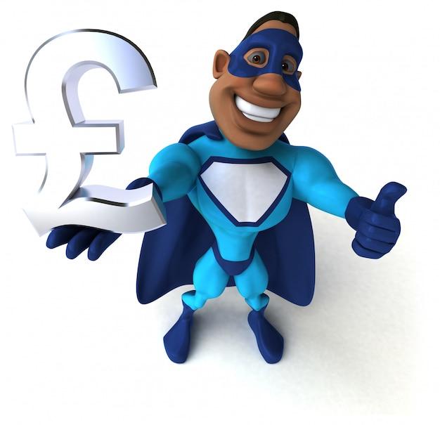 Spaß-superheld - 3d-illustration