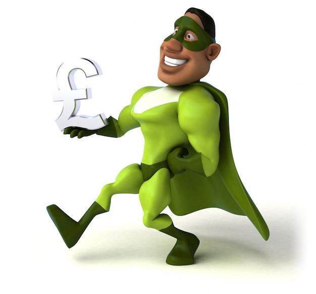 Spaß superhelden 3d illustration