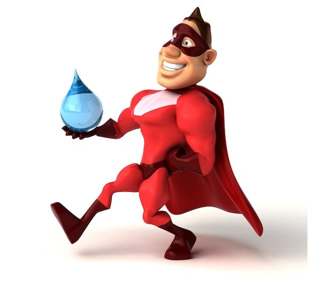 Spaß superheldenillustration