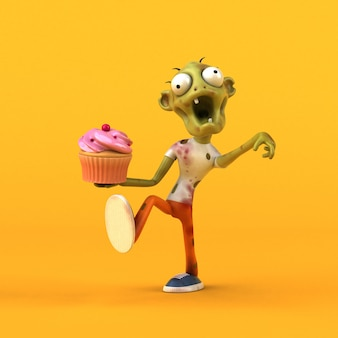 Spaß zombie 3d illustration