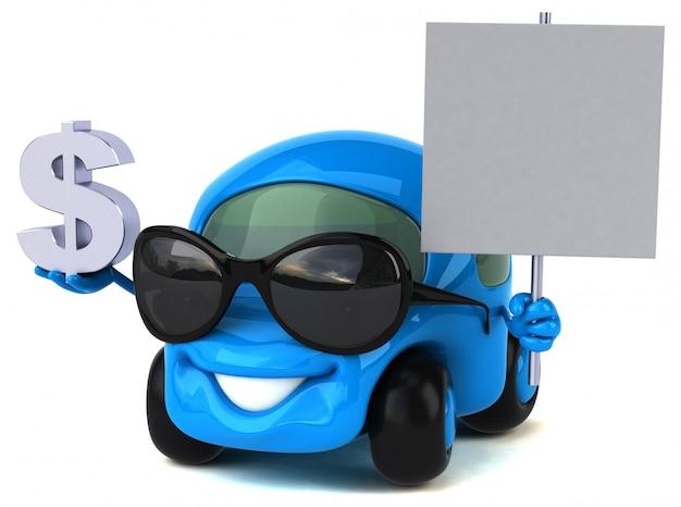 Spaßauto - 3d-illustration