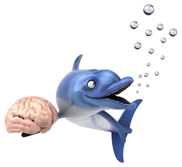 Spaßdelphin - 3d-illustration