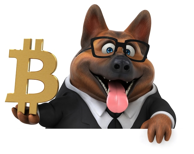 Spaßhund - 3d-illustration