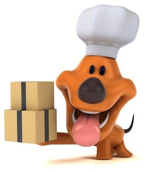 Spaßhund 3d-illustration