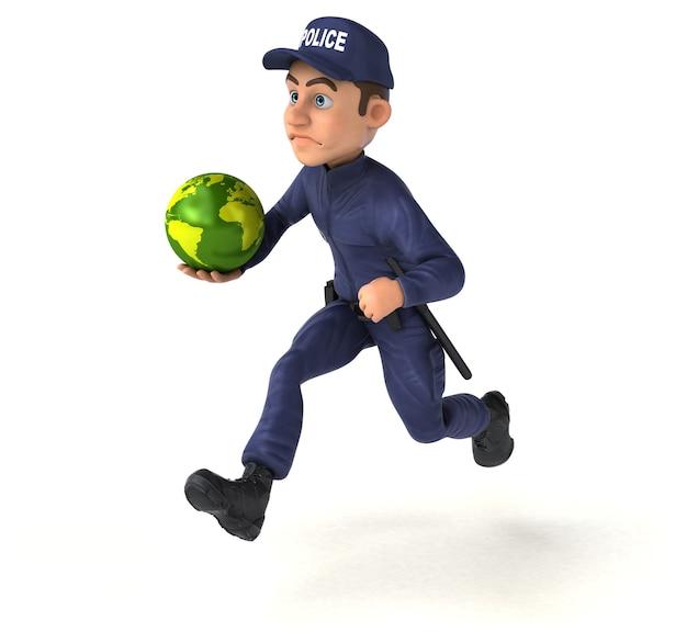 Spaßillustration eines karikaturpolizisten