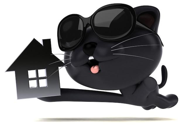 Spaßkatze - 3d-illustration