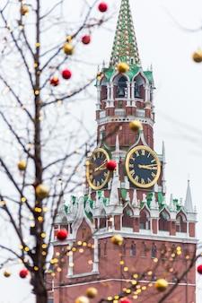 Spasskaya tower auf dem roten platz