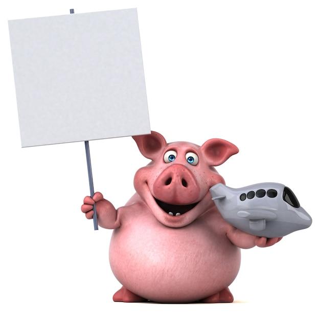 Spaßschwein - 3d-illustration