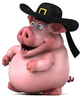 Spaßschweinillustration