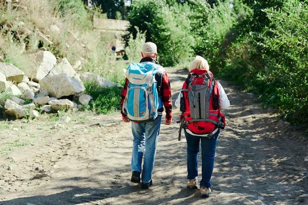 Spaziergang von touristen