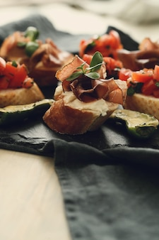 Speck snacks. traditionelle spanische tapas