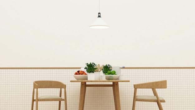 Speiseraum und speisekammer - wiedergabe 3d