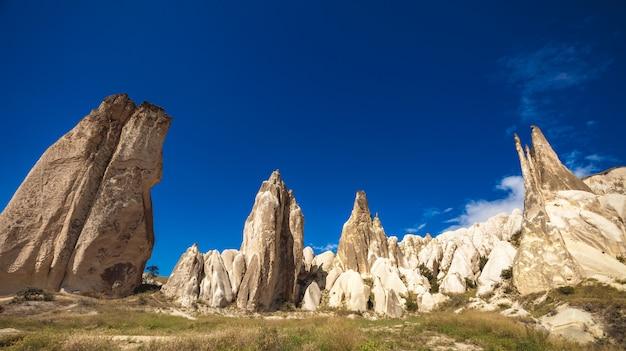 Spektakuläre felsformationen in kappadokien