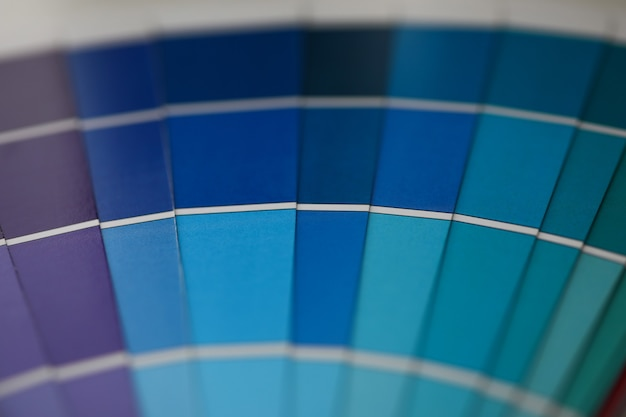 Spektrum an blautönen