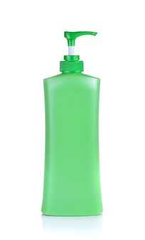 Spenderpumpe kosmetik, grüne plastikflasche lotion, creme, shampoo