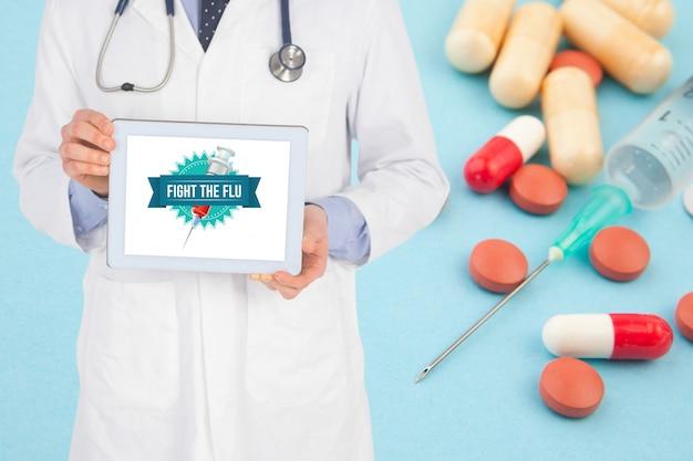 Spezialist leere kapseln spritze tablet-pc
