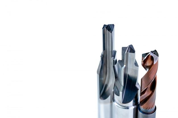 Spezialwerkzeuge isoliert. auf bestellung von spezialwerkzeugen. hss-hartmetall. hartmetall-schneidwerkzeug für industrielle anwendungen.