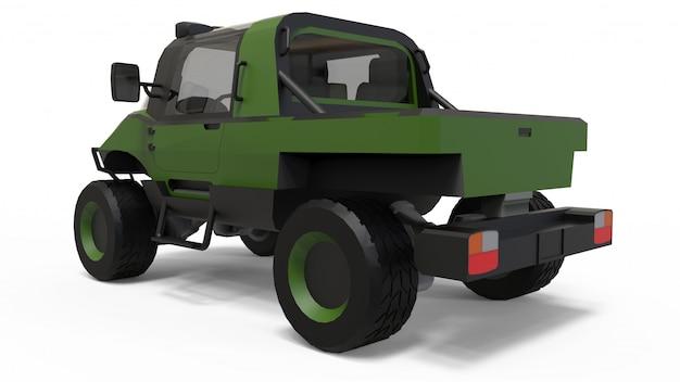 Spezielles geländewagen für schwieriges gelände und schwierige straßen- und wetterbedingungen