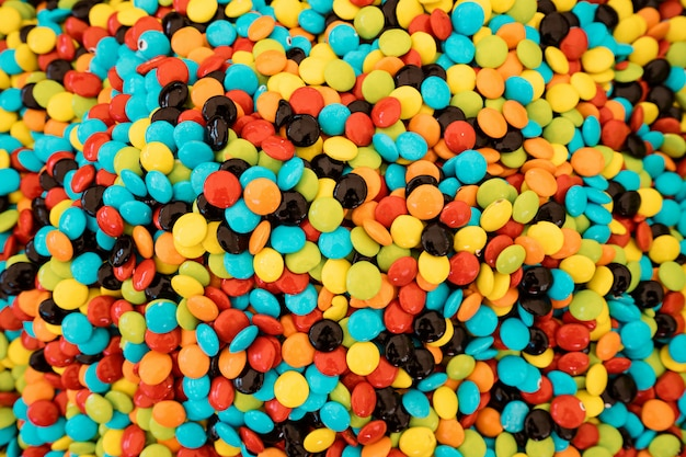 Sphärische süßigkeiten bunte textur