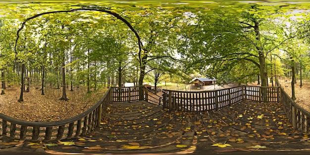 Sphärisches panorama 360 grad wildpark pong deutschland