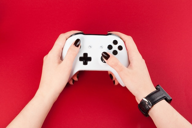 Spiel joystick auf rot