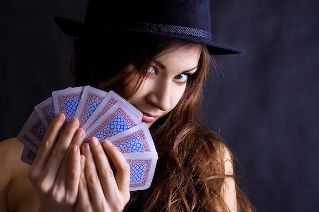 Spielkarten der schönen frau