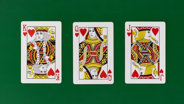 Spielkarten des königköniginsteckfassungs-vollen decks mit einfachem hintergrundkasinopoker