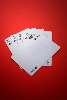 Spielkarten isoliert