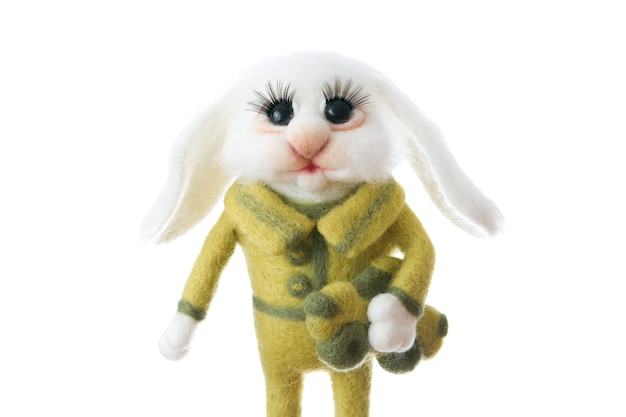 Spielzeug kaninchen hase. handgemachter filz