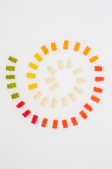 Spirale aus gummibärchen