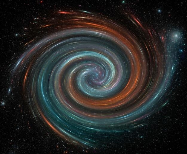 Spiralgalaxie, sternfeldhintergrund. weltraumhintergrund